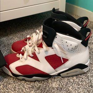 jordan retro 6 carmine 12 men's shoes